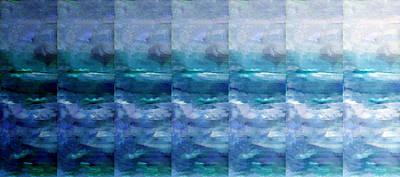 Abstract Seascape Mixed Media - Fading 2 by Angelina Vick