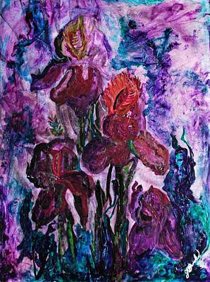 Fading Mixed Media - Fading Flower by GK Brock