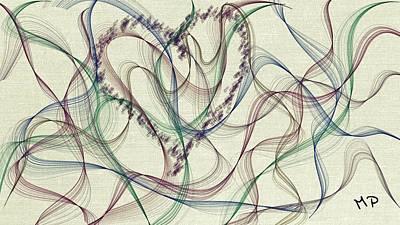 Fading Mixed Media - Fading Love by Marian Palucci-Lonzetta
