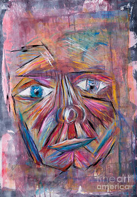 Fading Painting - Fading Man by Matthew  Wardell