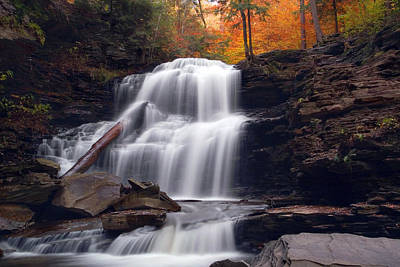 Photograph - Fading October Daylight On Shawnee Falls by Gene Walls