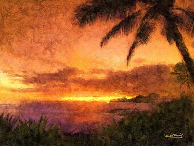 Fading Sunset Art Print by Wayne Pascall