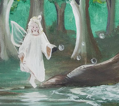 Painting - Faerie And Bubbles by Angela Stout