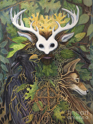 Coyote Painting - Faerie King by Antony Galbraith