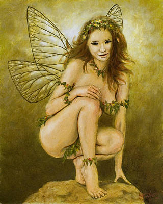 Sexy Fairy Painting - Faerie Portrait IIi by John Silver