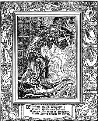 Wall Art - Drawing - Faerie Queene Illustration Engraving by