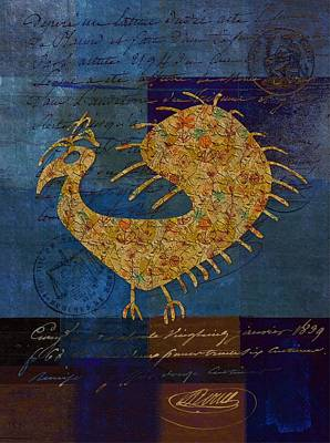 Variation Digital Art - Fafa Bird - 01c04ab by Variance Collections