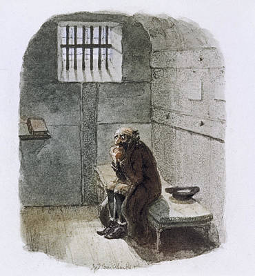 Fagin In Prison Art Print by British Library