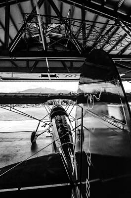 Vinatge Photograph - Fair Child Bi Plane Black And White by Puget  Exposure