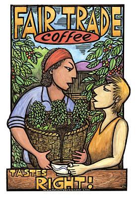 Fair Mixed Media - Fair Trade Coffee by Ricardo Levins Morales