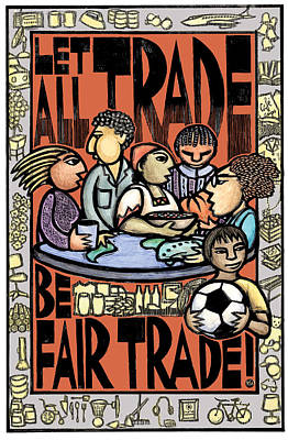 Fair Mixed Media - Fair Trade by Ricardo Levins Morales