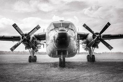Print featuring the photograph Fairchild C-119 Flying Boxcar - Military Transport by Gary Heller