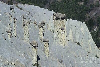 Fairey Chimneys Geological Formations Art Print