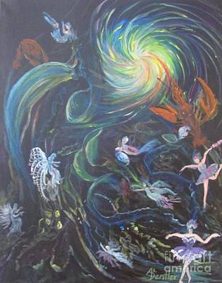 Painting - Fairies by Anne Dentler
