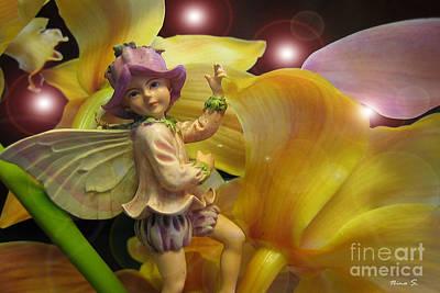 Photograph - Fairies In A Night Garden by Nina Silver