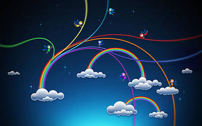 Fantasy Digital Art - Fairies Made Rainbow by Gianfranco Weiss