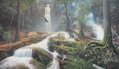 Leprechaun Painting - Fairies by Mark Mittlesteadt
