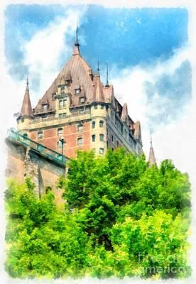 Quebec Photograph - Fairmont Le Chateau Frontenac by Edward Fielding