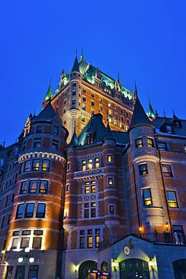 Quebec Photograph - Fairmont Le Chateau Frontenac, Quebec by Keren Su