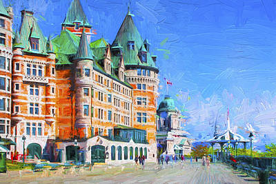 Photograph - Fairmont Le Chateau Frontenac Series 02 by Carlos Diaz
