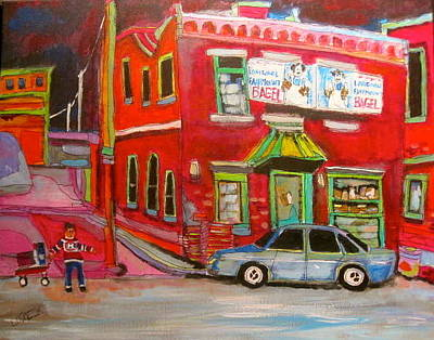 Old Jewish Area Painting - Fairmount Bagel Colours by Michael Litvack