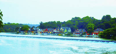 Waterfall Photograph - Fairmount Dam With Boathouse Row In Philadelphia by Bill Cannon