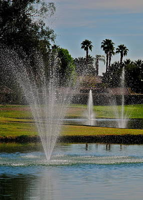 Photograph - Fairway Fountains by Kirsten Giving