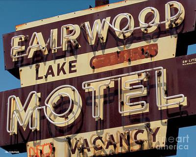 Motel Digital Art - Fairwood Motel by Jim Zahniser