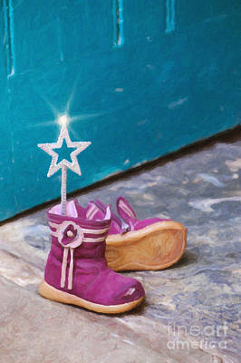 Footwear Digital Art - Fairy At The Door  by Tim Gainey