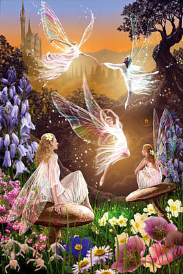Fairy Ballet Art Print by Garry Walton