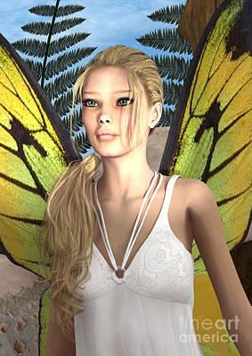 Fairy Butterfly Art Print by Design Windmill