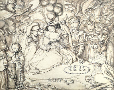 Goblin Drawing - Fairy Concert, C.1830 by Charles Kirkpatrick Sharpe