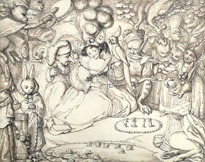 Elf Drawing - Fairy Concert, C.1830 by Charles Kirkpatrick Sharpe