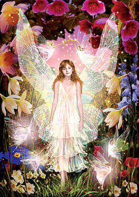 Of Fairies Photograph - Fairy Crowning by Garry Walton
