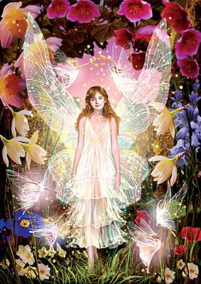 Daffodils Photograph - Fairy Crowning by Garry Walton