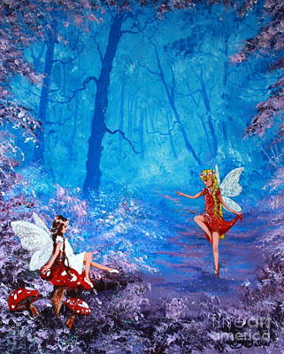Disney Artist Painting - Fairy Dancer by Jean Walker