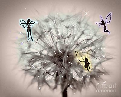 Fairy Dandelion Art Print