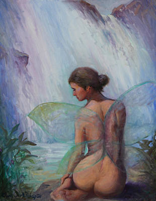 Painting - Fairy  Enchanted  by Gwen Carroll