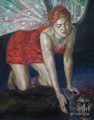 Painting - Fairy Faces Bugaboo by Raija Merila