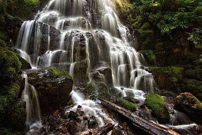 Photograph - Fairy Falls Oregon by Mary Jo Allen