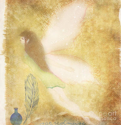 Folk Art Mixed Media - Fairy Folk Magic by Sacred  Muse