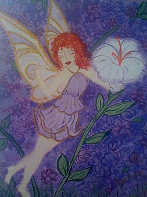 Art Print featuring the painting Fairy Harmony  by Judi Goodwin