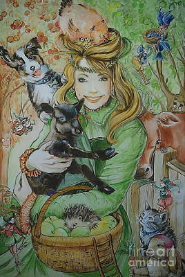 Fairy Hoppert Art Print by Ottilia Zakany