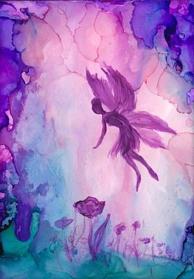 Painting - Fairy In Dreamland 6 by Lilia D