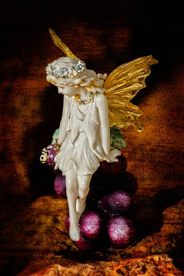 Art Print featuring the photograph Fairy Of The Harvest Moon by Dave Garner