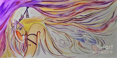 Fairy Princess Mixed Media Art Print by Janice Rae Pariza