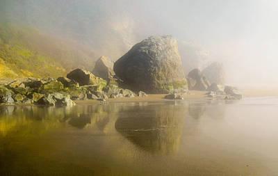 Stinson Beach California Photograph - Fairy Rocks by Maria Perry