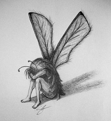 Crying Drawing - Fairy by Sara Coolidge