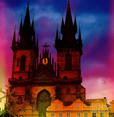 Painting - Fairy Tale Castle Prague by Femina Photo Art By Maggie
