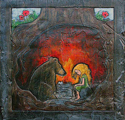 Fairy Tale II - Gold And Her Bear Original